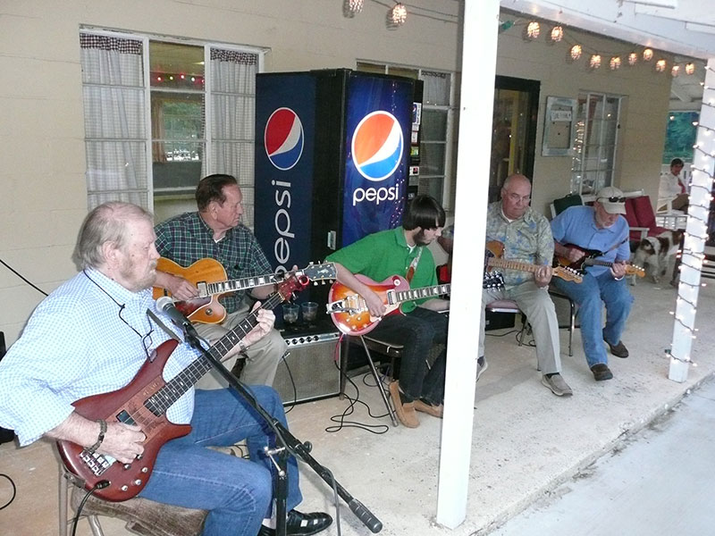 band-on-porch